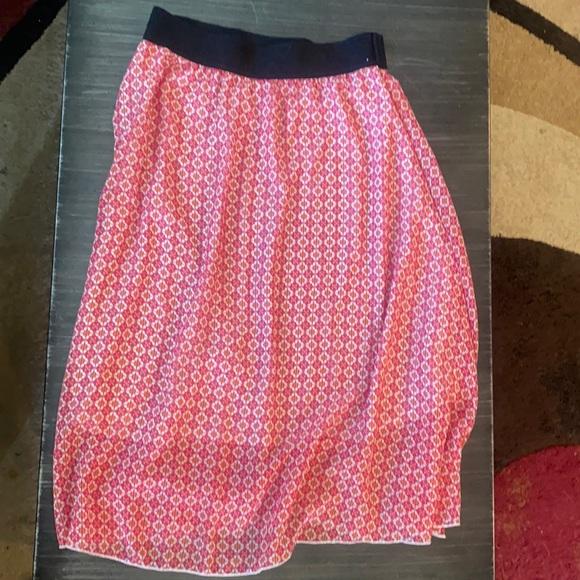 Lila row mid length high waisted skirt